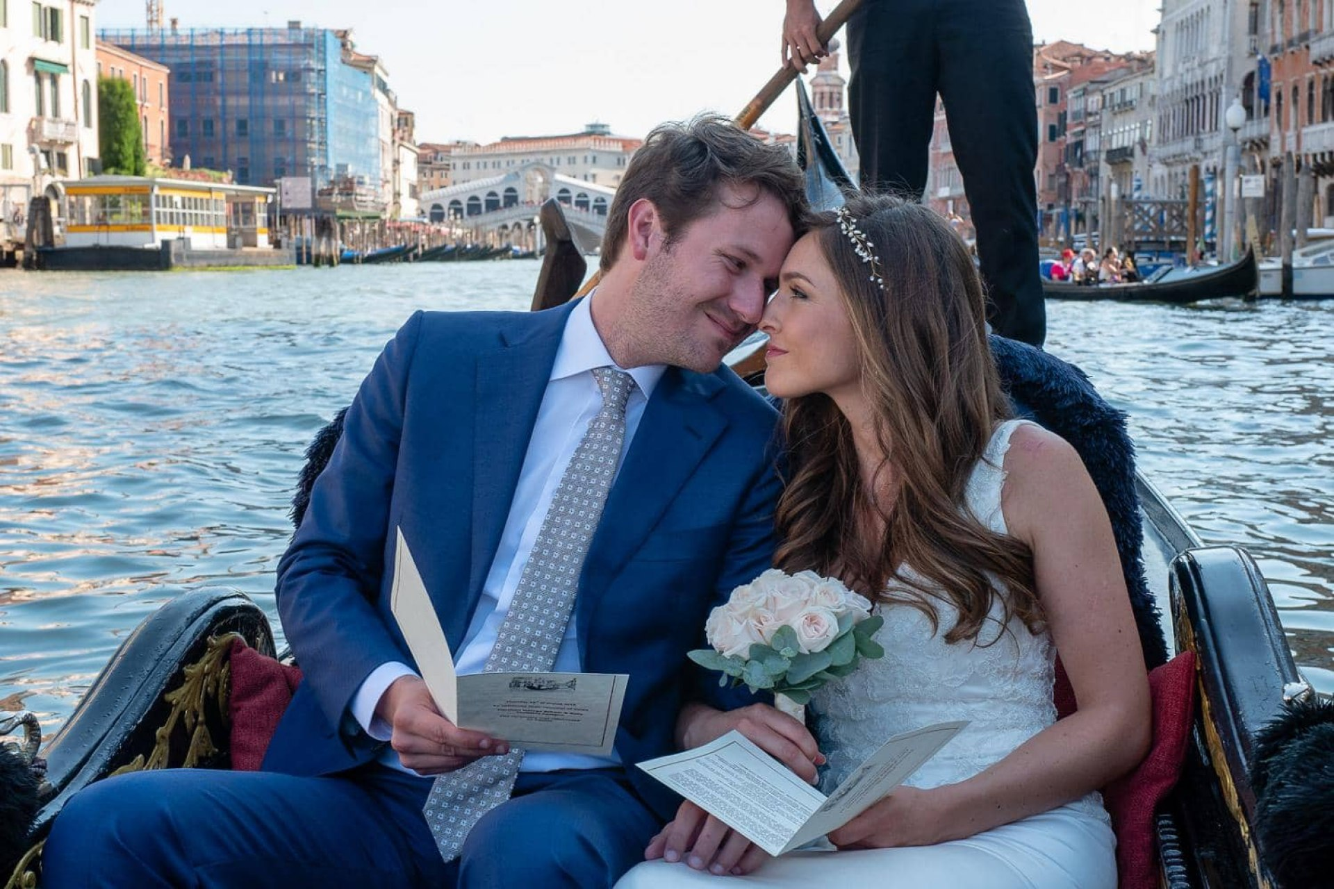 Renew Your Wedding Vows on a Venetian Gondola